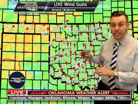 Live Fire Weather Coverage (12 April 2018) on Oklahoma Weather Tracker TV
