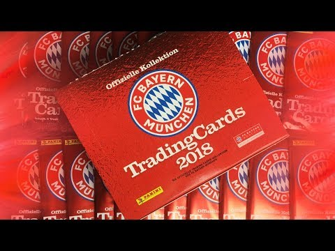 FULL BOOSTER BOX (100+ CARDS) | Panini FC Bayern Munich Trading Cards 2018