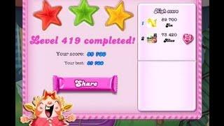 Candy Crush Saga Level 419 ★★★