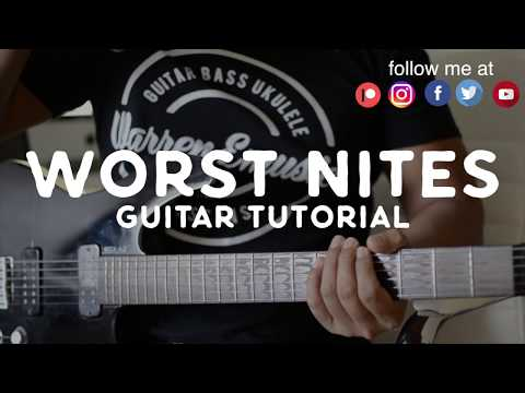 Worst Nites (guitar tutorial) - Foster The People