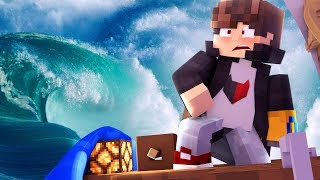 Minecraft: DESAFIO DO BARCO CONTRA TSUNAMI ( BARCO AFUNDOU !?)‹ JUAUM ›