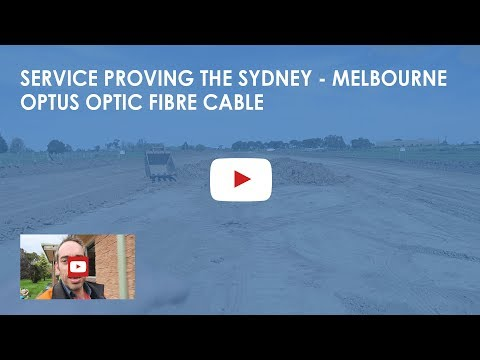 Protecting the Sydney to Melbourne Optus optic fibre cable