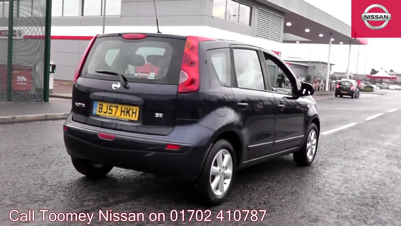 2007 nissan note acenta cayman blue bj57hkh for sale at toomey nissan southend youtube. Black Bedroom Furniture Sets. Home Design Ideas