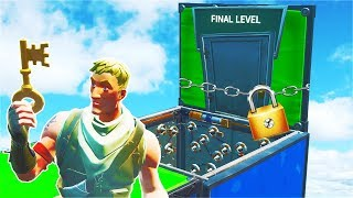 UNLOCKING the Final Level of this DEFAULT Deathrun... (Fortnite Creative)