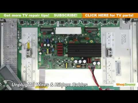 LG Plasma TV Repair - How to Replace LG 6871QYH953A Y-SUS