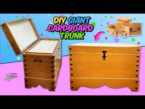 Amazing crafts using cardboard and recycled materials - DIY giant carton trunk