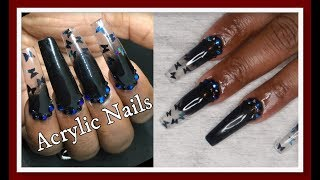 Black Butterfly -Acrylic Nails