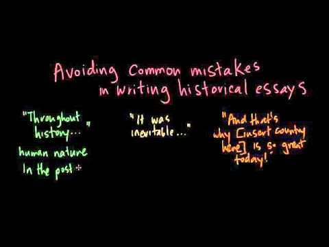Avoiding common mistakes in historical essays