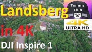Landsberg Saxony-Anhalt from the Air in 4K , DJI Inspire 1 Drone