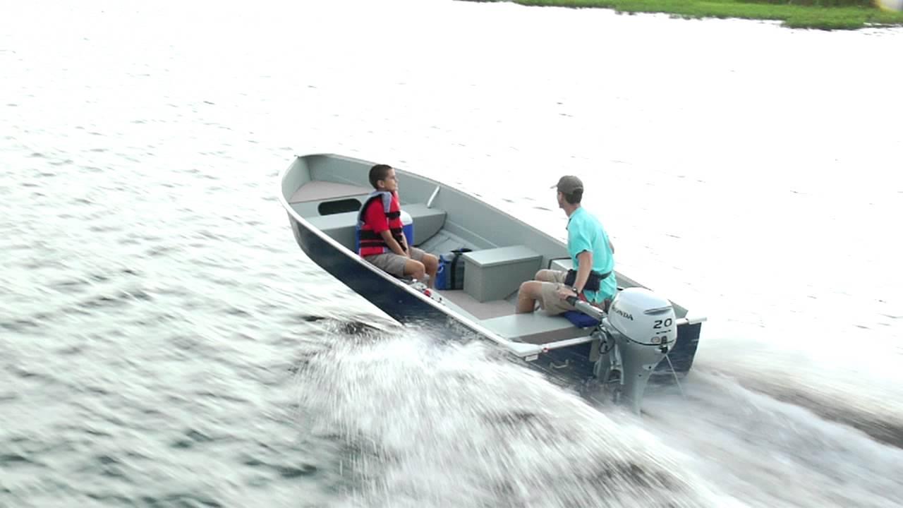Deep Impact Boats >> Honda Marine and MirroCraft 3696 Deep Fisherman II - YouTube