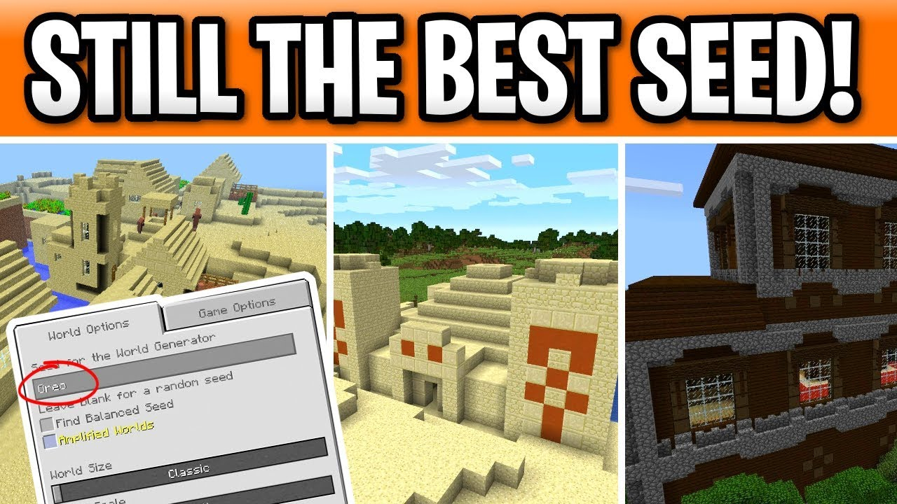 Minecraft Best Console Seed 2019 7 Desert Temples 6 Villages Youtube