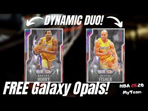 FREE GALAXY OPAL DEREK FISHER & ROBERT HORRY OT GAMEPLAY! CAREER HIGHLIGHTS DUO! NBA 2K20 MyTeam