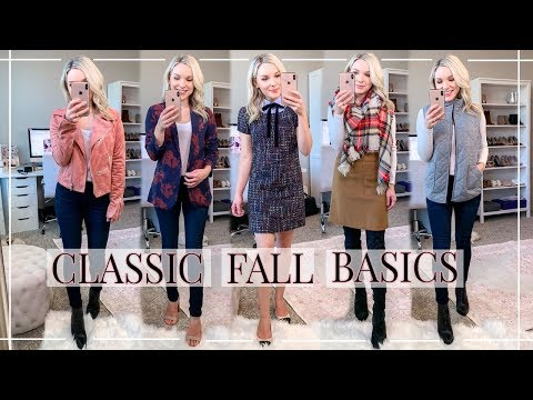10 FALL BASICS FOR YOUR WARDROBE | OUTFIT IDEAS | Shannon Sullivan
