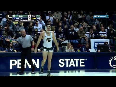 Michigan State Spartans at Penn State Nittany Lions Wrestling: 174 Pounds - Curley vs. Nickal