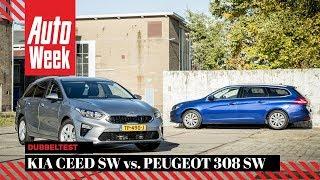 Kia Ceed Sportswagon vs. Peugeot 308 SW - AutoWeek Dubbeltest - English subtitles