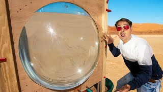 We Made Worlds Biggest Magnifying Lens - 1000 Rupees Only