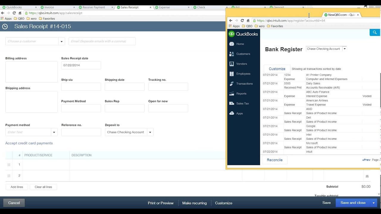 How to bookmark QuickBooks pages in new QuickBooks Online