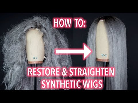 How To Restore and Straighten A Synthetic Wig!