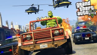 The INCREDIBLE HULK learns how to DRIVE A CAR  (GTA 5 Mods)