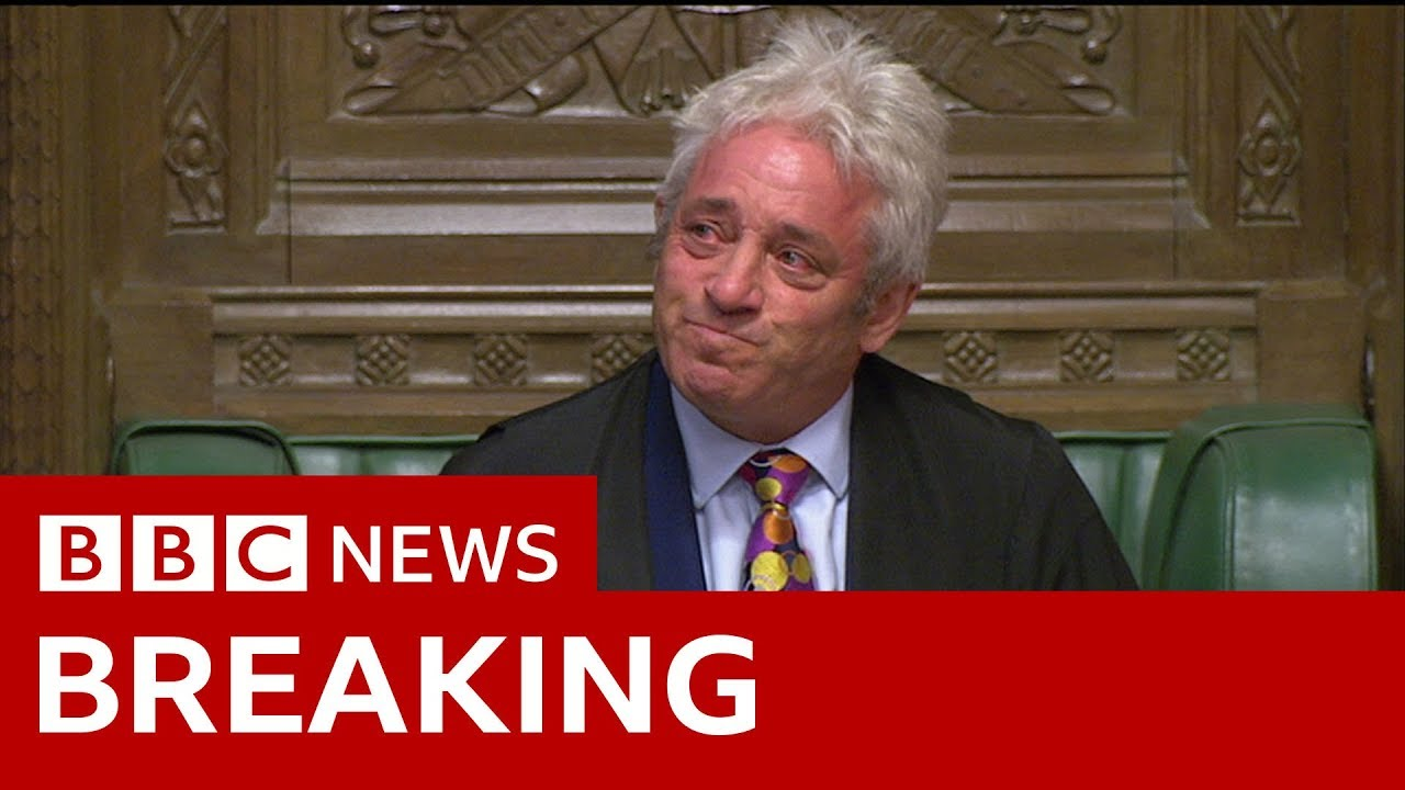 Commons Speaker Bercow 'to stand down' - BBC News