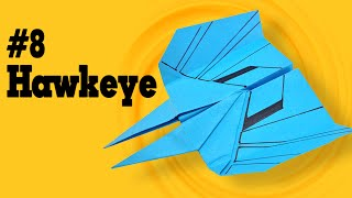 Easy origami - How to make a easy paper airplane glider that FLY FAR #8| Hawkeye