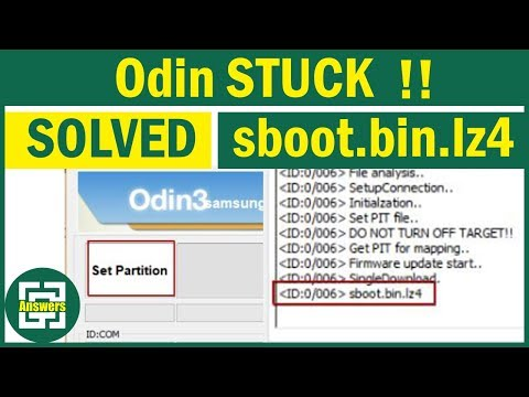 How to Fix ODIN stuck on sboot bin lz4 and Set Partition ?! - YouTube