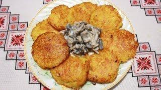 Деруны рецепт с мясом Драники рецепт Деруни рецепт з мясом картофельные оладьи