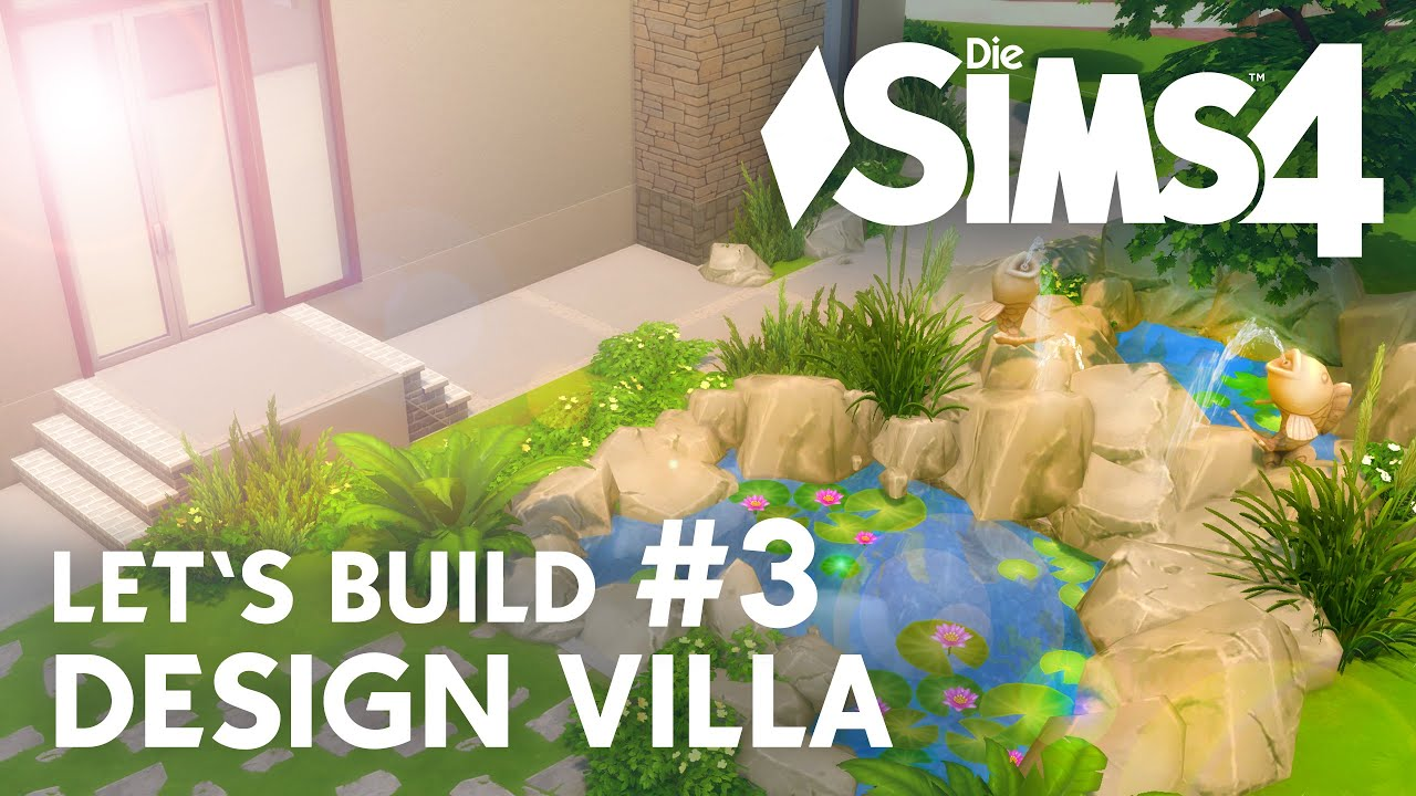 Die sims 4 let 39 s build design villa 3 teich pool for Pool design sims 4