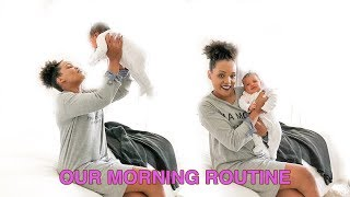 OUR MOMMY and ME MORNING ROUTINE (with newborn)