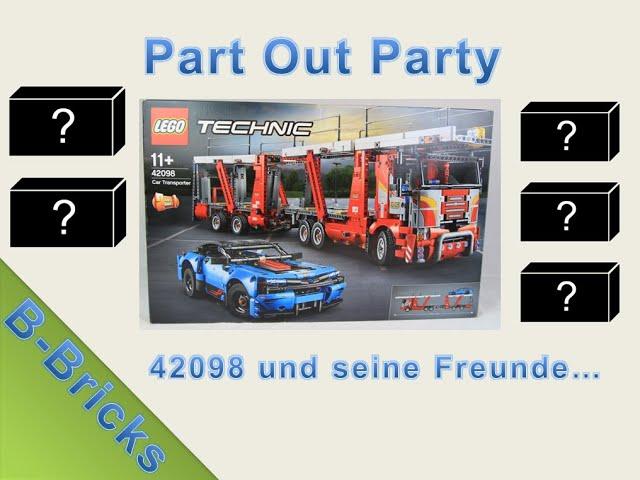 Lego 42098 für meinen BrickLink-Store ausparten, Part Out Party #01