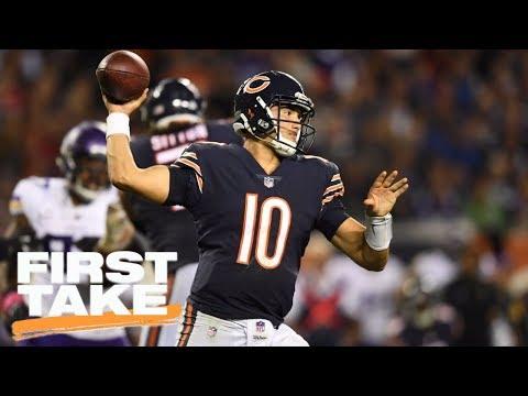 First Take grades Bears QB Mitchell Trubisky's NFL debut | First Take | ESPN