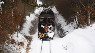【4k】2018/1/21(Sun) 津軽鉄道ストーブ列車 DD352機関車 全検明け
