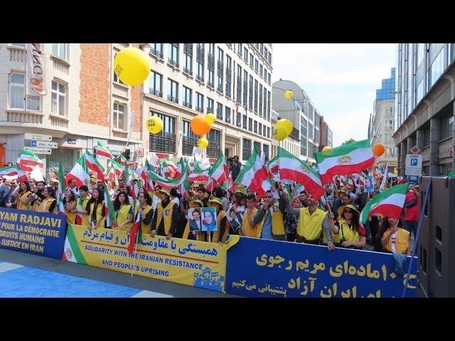 MEK supporters rally in EU capital in support of regime change in Iran