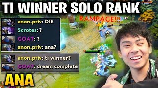 Ana RAMPAGE with Winter Wyvern - TI Winner SOLO RANK