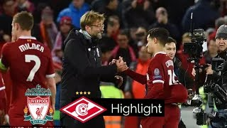 Liverpool vs Spartak Moscow 7-0 - Goals & Extended Highlight - UCL 6/12/17