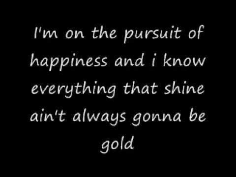 Pursuit of Happiness Kid Cudi Lyrics on Screen