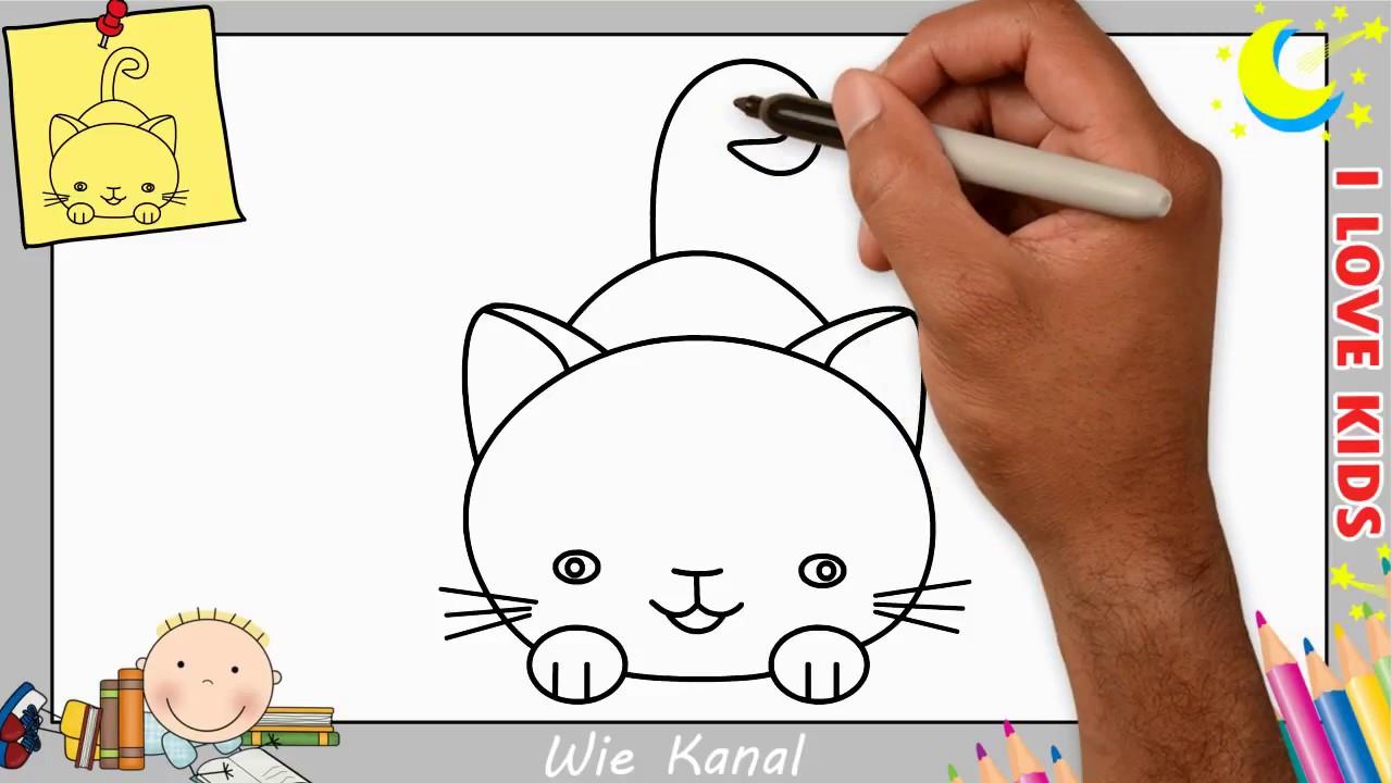 Wie zeichnet man einen Katze schritt für schritt für anfänger ...