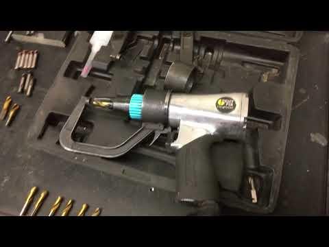 Auto body shop tools, spot weld drill, dent fix.