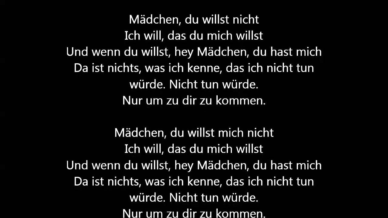 i want you deutsch