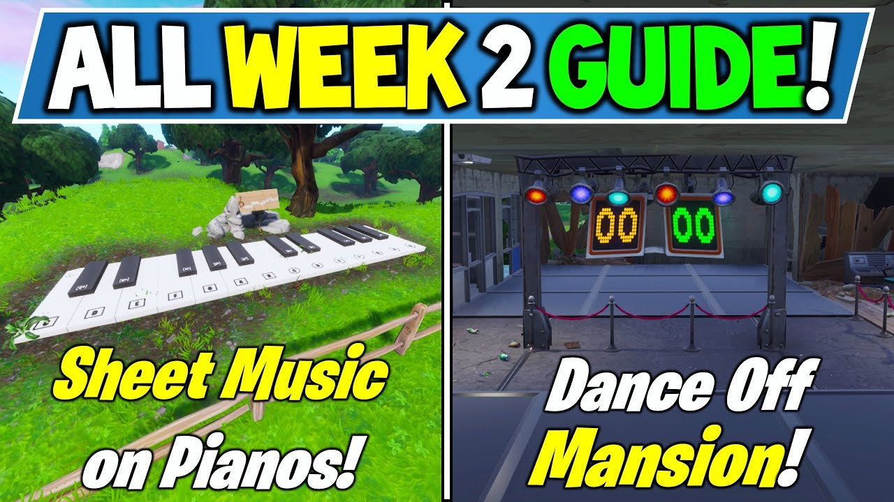 Fortnite Week 2 Challenges Guide Secret Banner Location Piano
