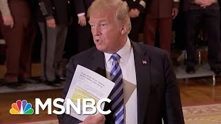 President Donald Trump Lashing Out After Anonymous New York Times Op-Ed | Velshi & Ruhle | MSNBC