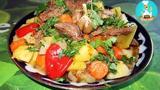 Дымляма, думляма, димляма по-узбекски: рецепт приготовления в казане | Damlama, dymlyama, dumlyama