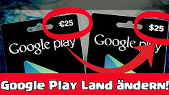 € ➡💲 | LAND ÄNDERN im Google Play Store! | Euro zu Dollar ändern | Tutorial [Deutsch/German]