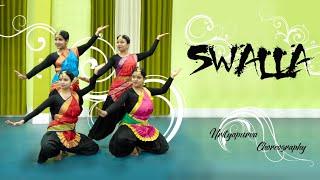 SWALLA (JATHI MIX) | INDIANRAGA| DANCE COVER| NRITYAPURVA CHOREOGRAPHY