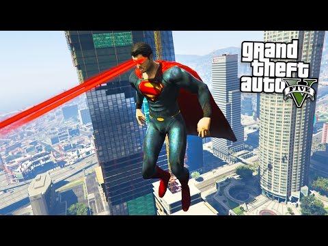 GTA 5 Mods - ULTIMATE SUPERMAN MOD w/ SUPERMAN POWERS!! (GTA 5 Mods Gameplay)