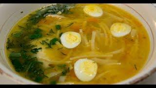 Куриный суп с лапшой и овощами | Птица. От филе до фарша
