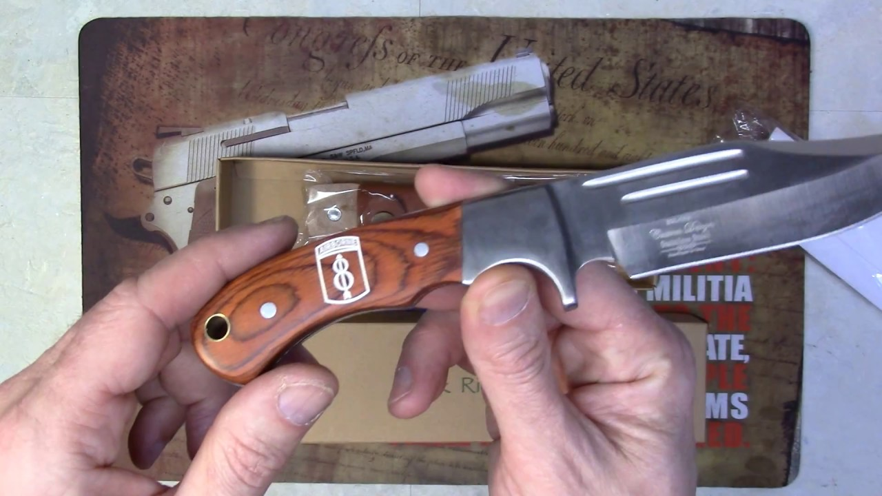 Elk Ridge ER-052 Fixed Blade Hunting Knife engraved by NDZ