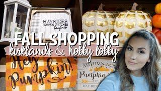 HOBBY LOBBY & KIRKLANDS FALL HOME DECOR | SHOP WITH ME 2019