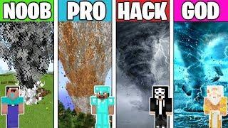 Minecraft Battle: TORNADO APOCALYPSE! NOOB vs PRO vs HACKER vs GOD in Minecraft Animation