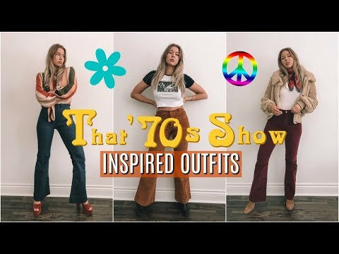 THAT \u002770s SHOW // \u002770s inspired outfits , YouTube